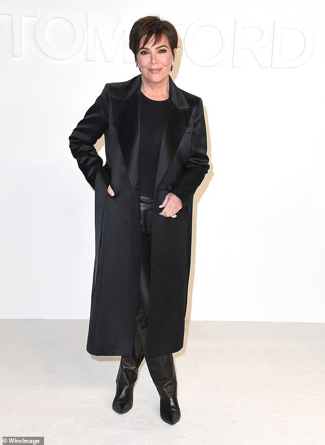 Money moves: Kris Jenner (seen in February)filed trademark documents last week to lock up rights to