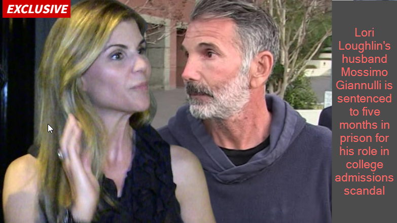 Lori Loughlin's husband Mossimo Giannulli is sentenced to five months in prison for his role in college admissions scandal