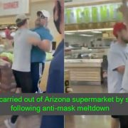 Man carried out of Arizona supermarket by son following anti-mask meltdown