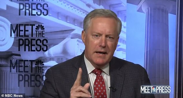 White House Chief of Staff Mark Meadows said Sunday House Speaker Nancy Pelosi would