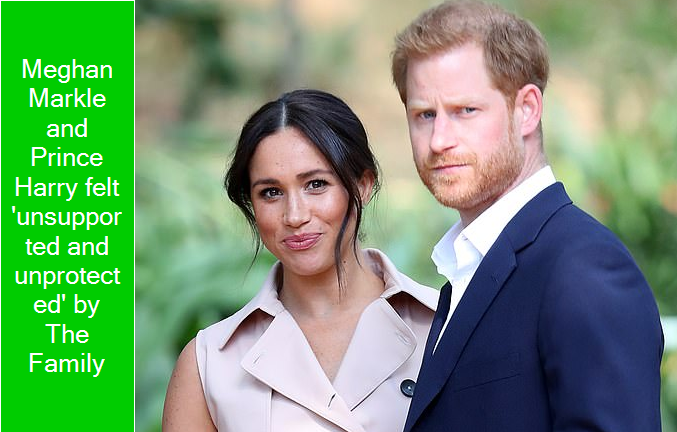 Meghan Markle and Prince Harry felt 'unsupported and unprotected' by The Family