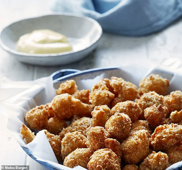 To avoid last-minute rushing, coat the cauliflower florets in the crumbs and keep chilled, in a single layer on a tray. Then all you need to do is fry them