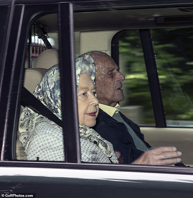 The Queen, pictured with Prince Philip earlier this month, has finally reunited with William, Kate and their three children for the first since the country was plunged in coronavirus lockdown, according to reports