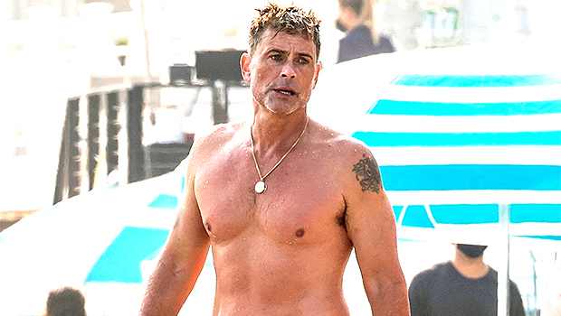 Rob Lowe, 56, Looks Buff While Going Shirtless During A Beach Day – See Pic