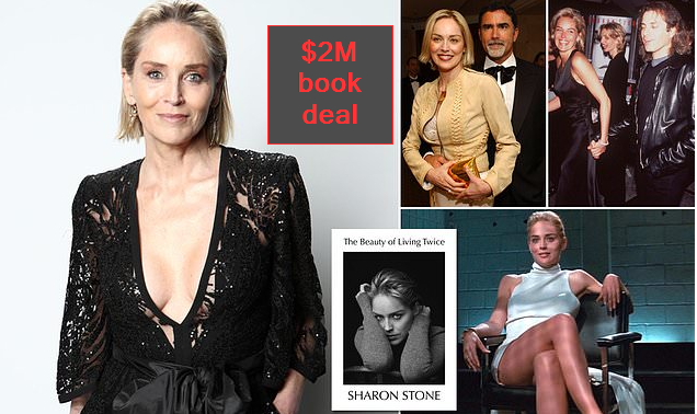 Sharon Stone grabs a $2M book deal beauty of living twice