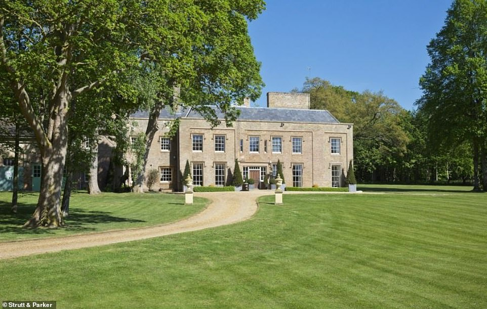 Adrian Bayford, 49, is selling the £6.5million Grade II manor house in Linton, Cambridgeshire. He has now had to increase security after intruders started using the impressive home for themselves, breaking into his personal leisure centre