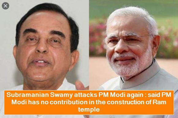 Subramanian Swamy attacks PM Modi again - said PM Modi has no contribution in the construction of Ram temple