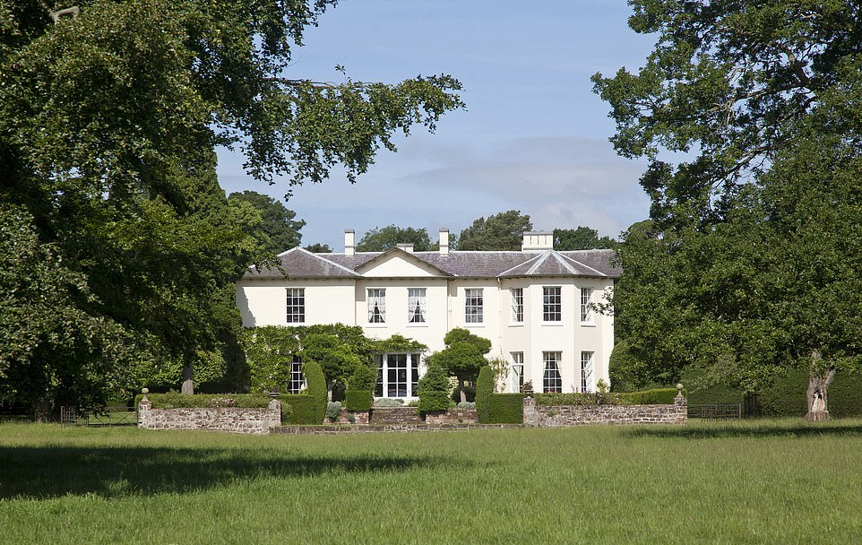 The Chyknell Hall Estate in Shropshire (pictured) was sold to the ex-lover of Spain