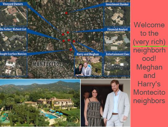 Welcome to the (very rich) neighborhood! Meghan and Harry's Montecito neighbors