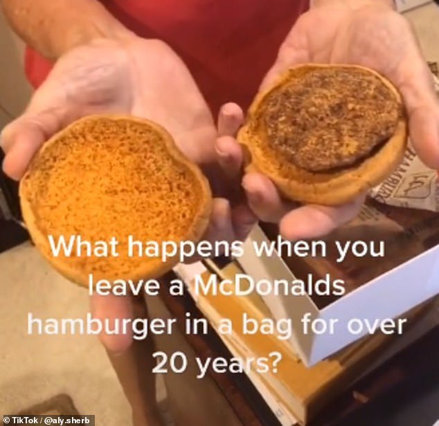 McMillions of years old! An American woman has held onto a hamburger and fries from McDonald