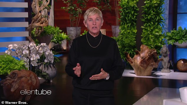 Back in the studio amid the pandemic: Ellen was back at it on Tuesday