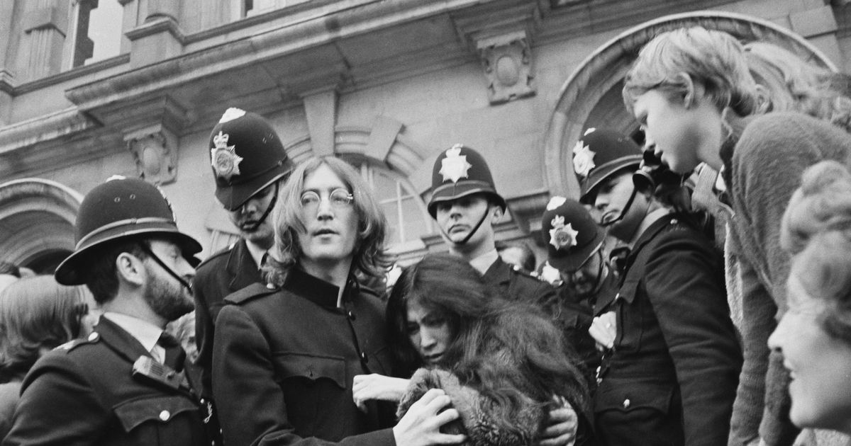 John Lennon and Yoko Ono 'came to door stark naked during drug raid', claims cop