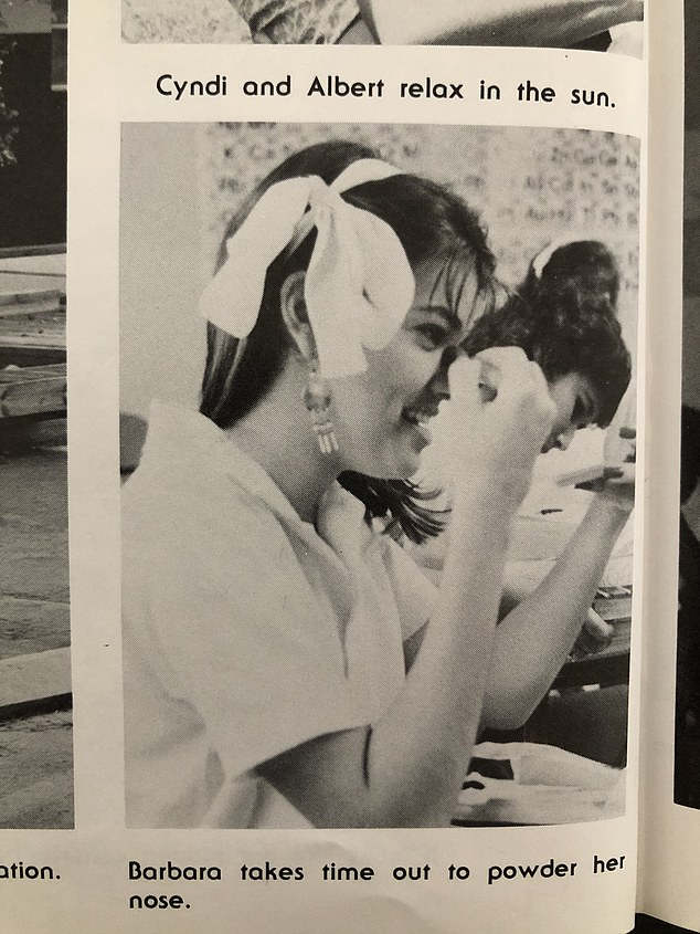 'Barbara takes time out to powder her nose,' her yearbook read.Lagoa grew up in Hialeah, Florida, the blue-collar enclave outside of Miami where Antonio and Araceli settled after fleeing their native Cuba in 1966