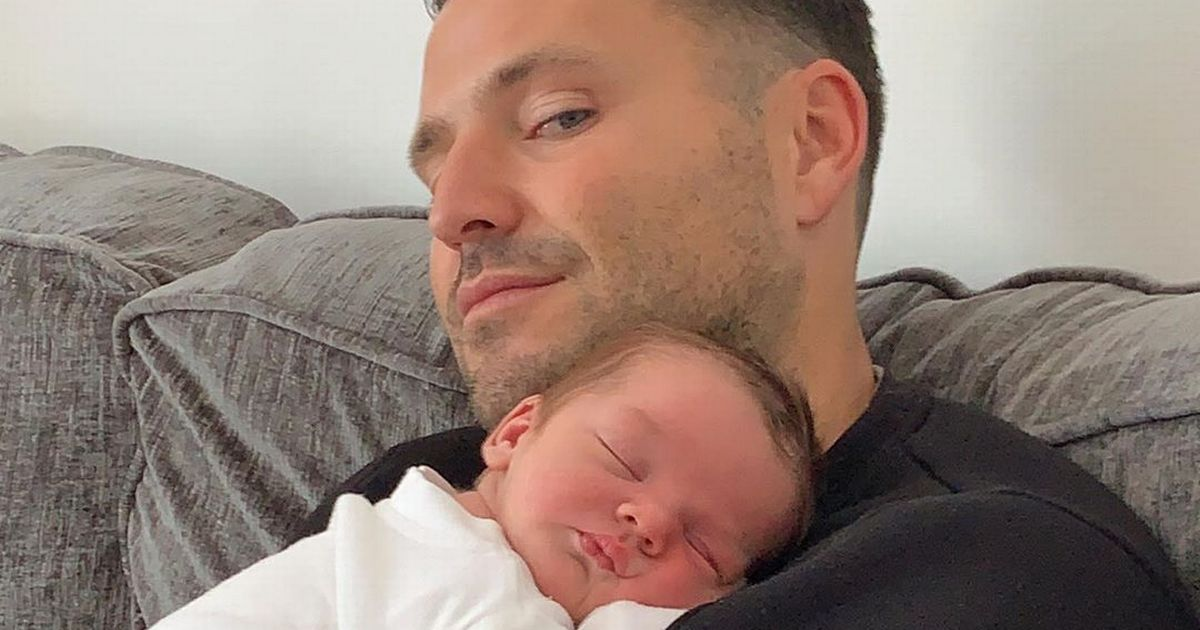 Mark Wright fans say he oozes 'daddy vibes' as he cradles a newborn baby