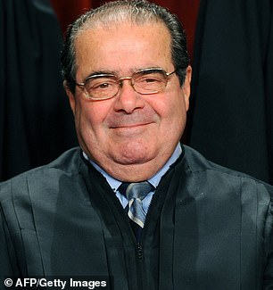 Scalia is pictured. He was a famous 'originalist' - interpreting the Constitution as he believed the authors intended. Barrett holds a similar view