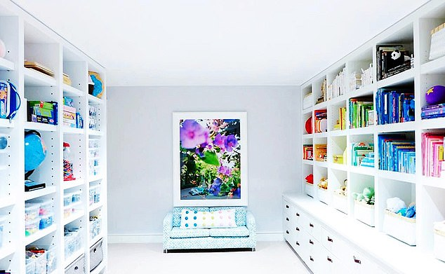 When Clea and Joanna were invited to Ms Paltrow's home in the Hamptons, New York, they said they were thrilled to 'organise our favourite playroom of all time for one of our favourite people of all time. They added that arranging her teenage children's room (above) was 'the most fun days of our life'