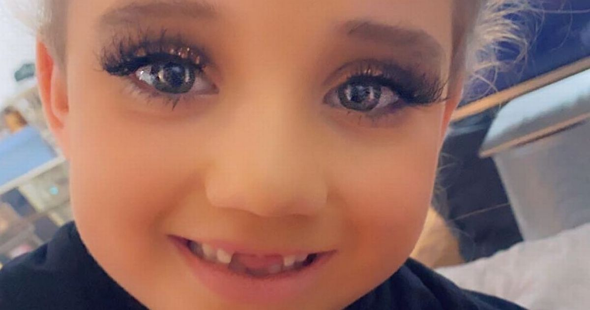 Katie Price divides fans with snap of Bunny 6, wearing makeup and fake lashe