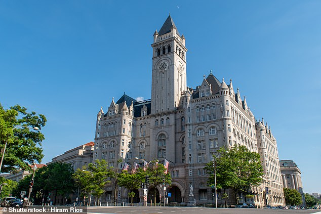 Trump¿s Washington hotel, pictured, is said to be struggling financially
