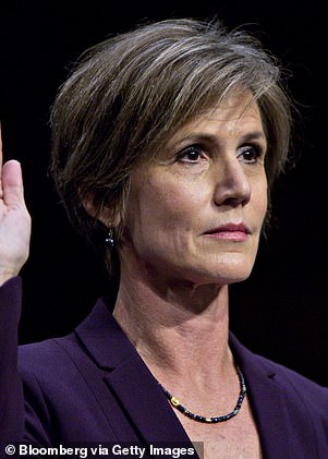 Holly Hunter will play fired acting attorney general Sally Yates (left)