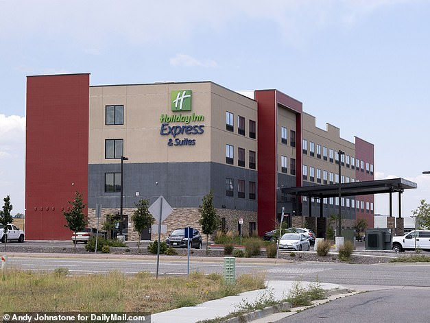 DailyMail.com previously revealed that Morphew was at a hotel in Broomfield, Colorado (pictured), when his wife was reported missing and left the room reeking of chlorine and covered in wet towels