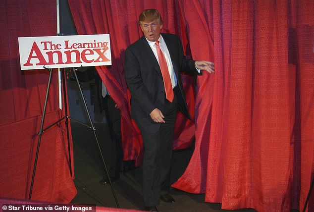 onald Trump speaks at The Learning Annex Think Big Day at the Convention Center in 2006