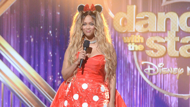 Tyra Banks Channels Minnie Mouse In Bright Red Mini Dress For Disney Night On 'DWTS' — Pics