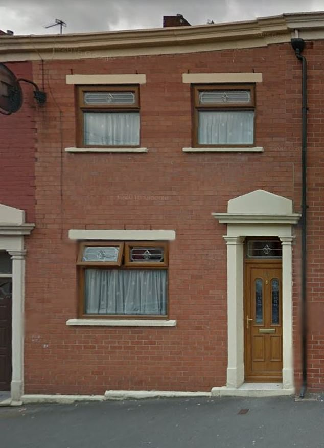 The terraced house where the brothers grew up in Blackburn. They were born in the town after their parents moved fromGujurat, India