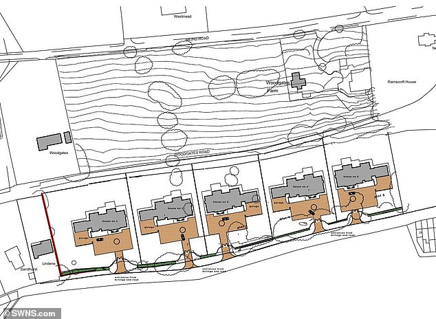 The five new homes will stand over over 4.5 metres taller that the old homes with 1,500 square metres of floor space