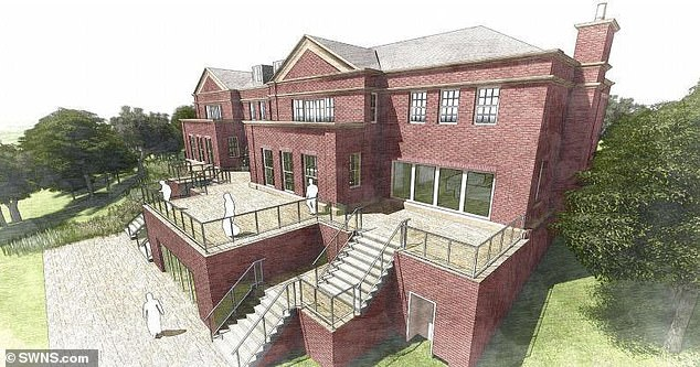 Architect's plans for one of the five new homes that the brothers are building in countryside near Blackburn