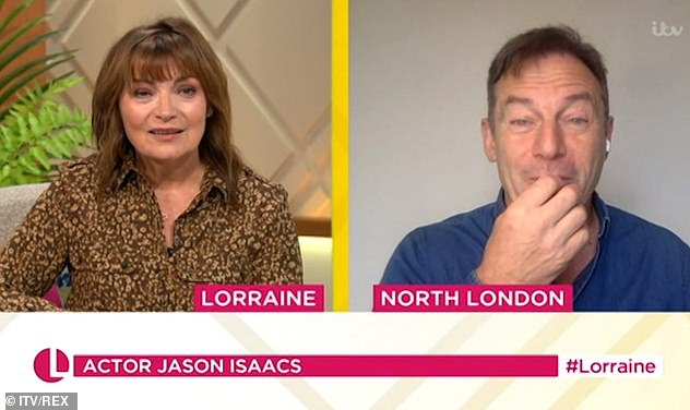 Pandemic chat: Joining Lorraine Kelly for a chat on Tuesday morning, Jason was speaking about struggling amid the pandemic