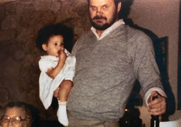 Thomas Markle with a baby Meghan Markle. A picture shown in the Channel 5 documentary called Thomas Markle: My Story, that aired earlier this year