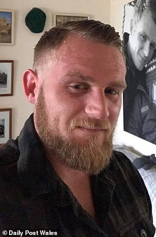 During his time in the military - which he joined in 2007 - Mr Nickless (pictured) witnessed his friends killed in Afghanistan and was left with pieces of shrapnel stuck in his arm