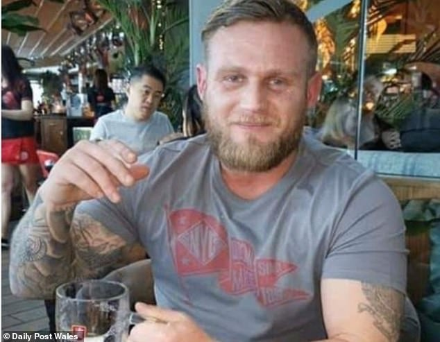 'Devoted daddy' Mr Nickless (pictured) was discovered at his Conwy, Wales, home by a friend who became concerned after a worrying text to her, an inquest heard