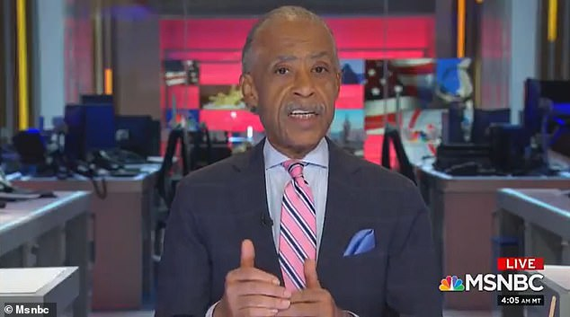 AlSharpton made the comments during an appearance on MSNBC