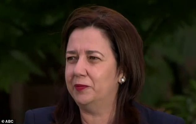 Tearful: Annastacia Palaszczuk cried on national television this morning as she fronted the cameras for the first time since refusing to let a 26-year-old nurse attend her father