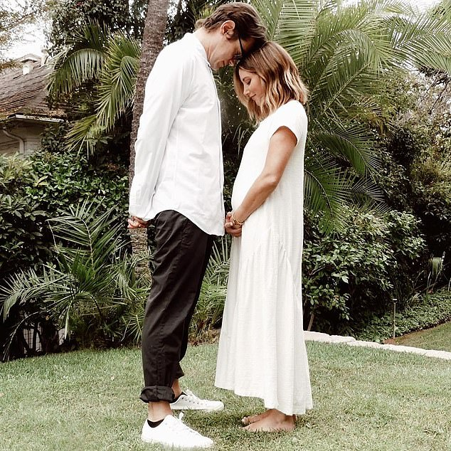 Bumping along nicely! Ashley Tisdale is expecting her first child with husband Christopher French