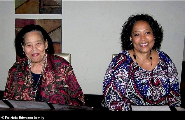 Patricia Edwards, known as Nurse Pat, died at Bon Secours St. Francis in Greenville, South Carolina - surrounded by her colleagues - on August 19. Her mother, Rosa Lee Finch Hellams (left), 96, died a week later