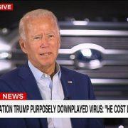 Democratic nominee Joe Biden said President Donald Trump