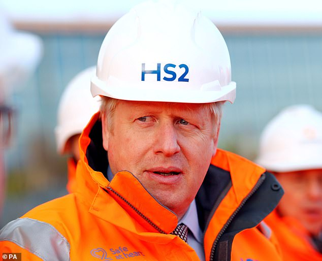 Boris Johnson has heralded the controversial HS2 rail link as an engine for jobs growth as construction finally begins