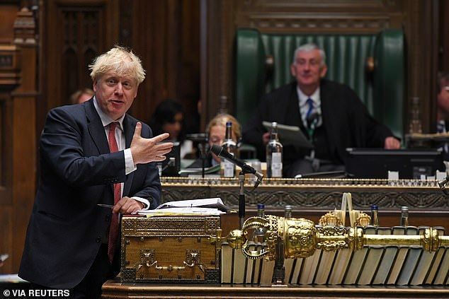 Boris Johnson, pictured during Wednesday