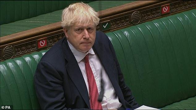 Boris Johnson pictured during Prime Minister