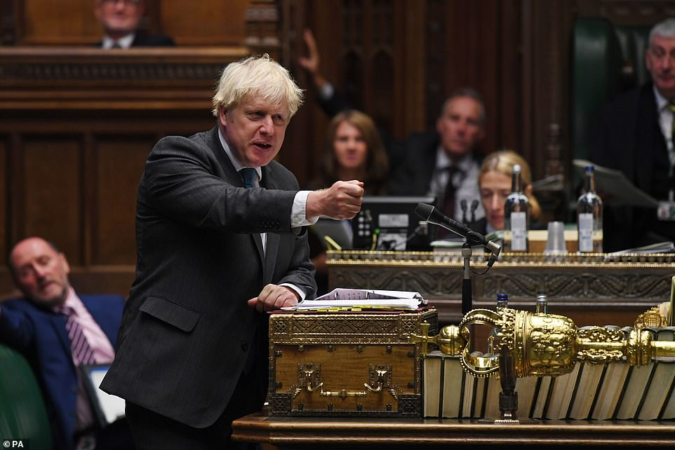 Boris Johnson said new rules could be imposed on the country if people don