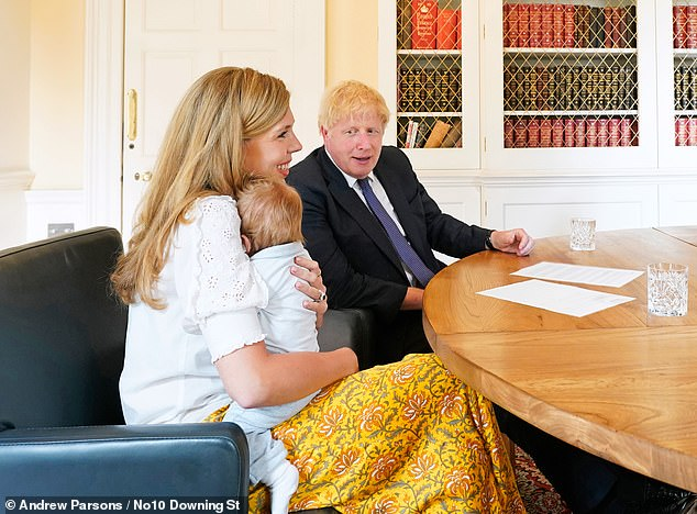 Cherie Blair says it will be 'tough' for Boris Johnson and Carrie to bring up baby Wilfred at No.11