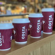 A Costa Coffee store is pictured above. 1,600 Costa workers were told on Friday they would lose their jobs. As ever, there's an element of raw snobbery in the glee with which these redundancies have been greeted