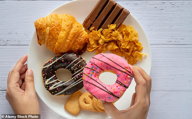 When you are young it feels as if you can eat anything and not put on weight. But most of us gain about a pound a year from our mid-20s onwards [File photo]