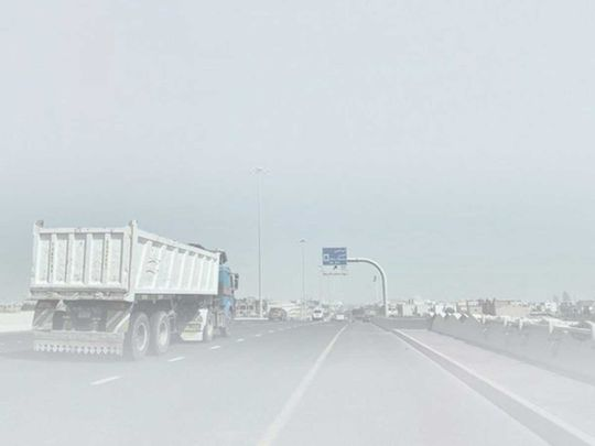 Dh500 fine and four black points for driving heavy vehicles during fog
