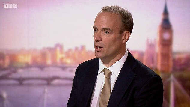 Foreign Secretary Dominic Raab told the BBC