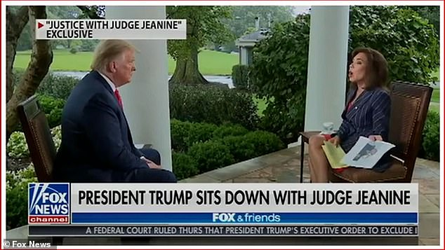 President Donald Trump once again alleged without evidence that rival Joe Biden was on drugs ¿ telling a Fox News interviewer Jeanine Pirro: