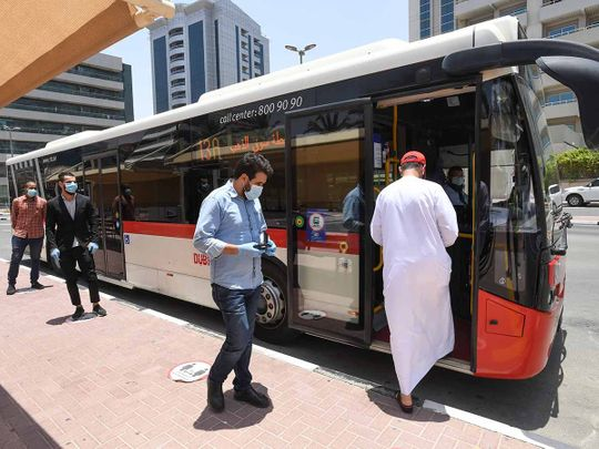 Dubai-Sharjah intercity public buses back on the road after suspension ends