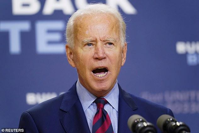 A furious Joe Biden called President Trump
